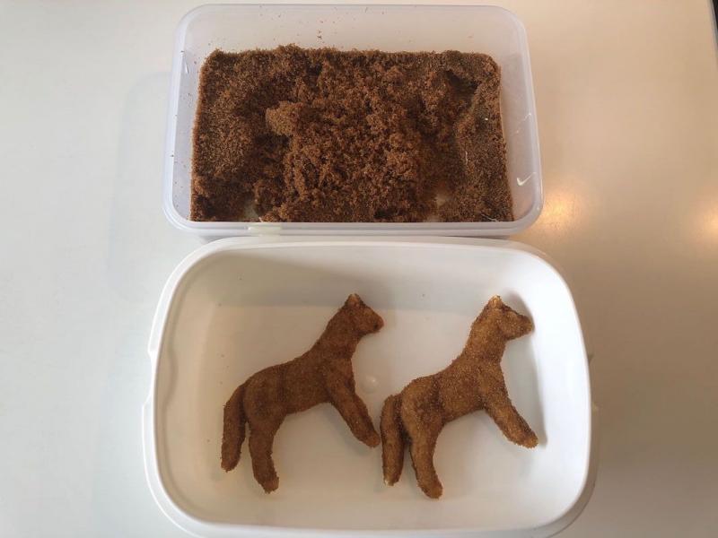 Chokolade hest støbt i farin