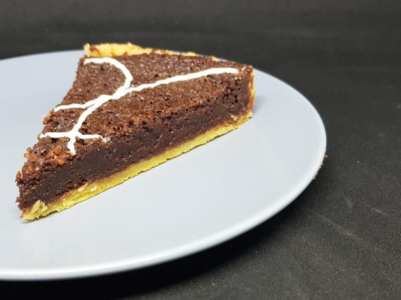 Fransk chokoladetærte