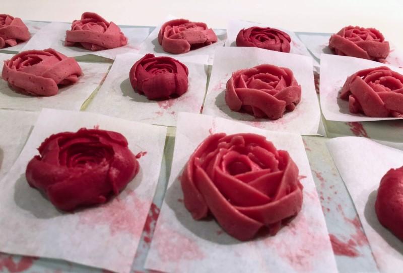 Smørcreme roser