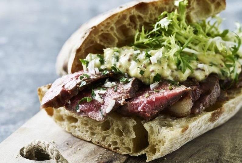 Verdens bedste steak-sandwich