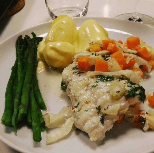 Brosme med Sauce Hollandaise